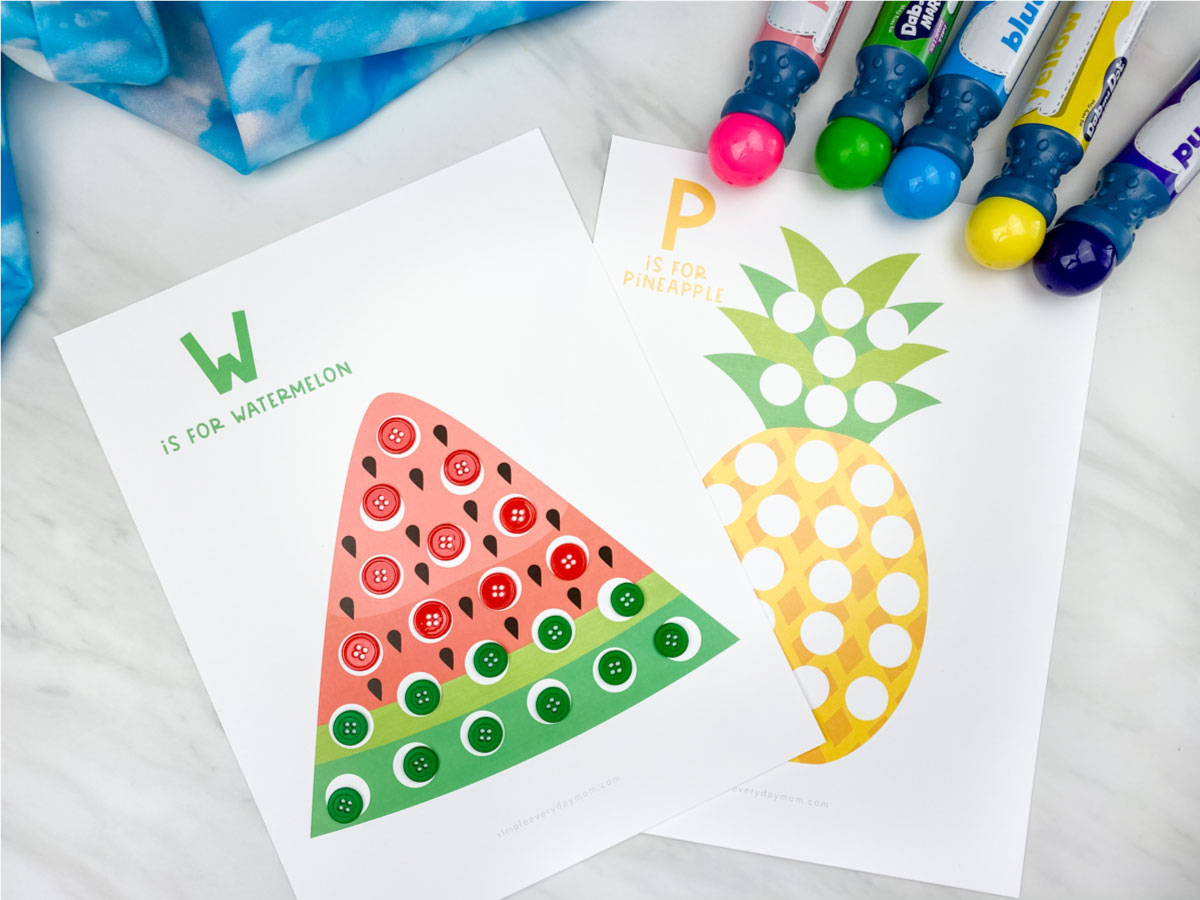 Summer Do A Dot Printables