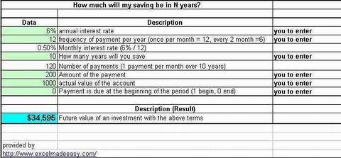 Simple Excel Bank Savings Template