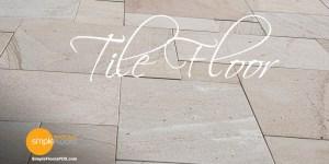 Tile floor, tile flooring and tile