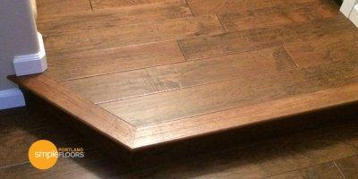 Engineered Hickory Wood Floors Entryway