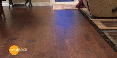 Engineered Hickory Wood Floors Family Room