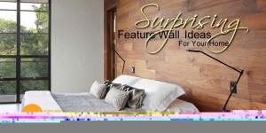 Feature walls using hardwood flooring
