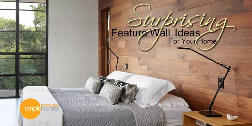 Feature walls using hardwood flooring