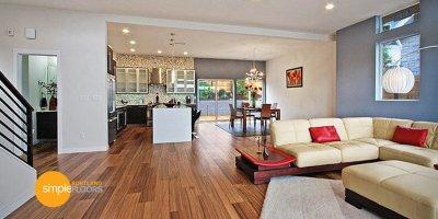 Natural African Walnut engineered hardwood flooring