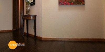 cocoa brown Hardwood Flooring Portland hallway