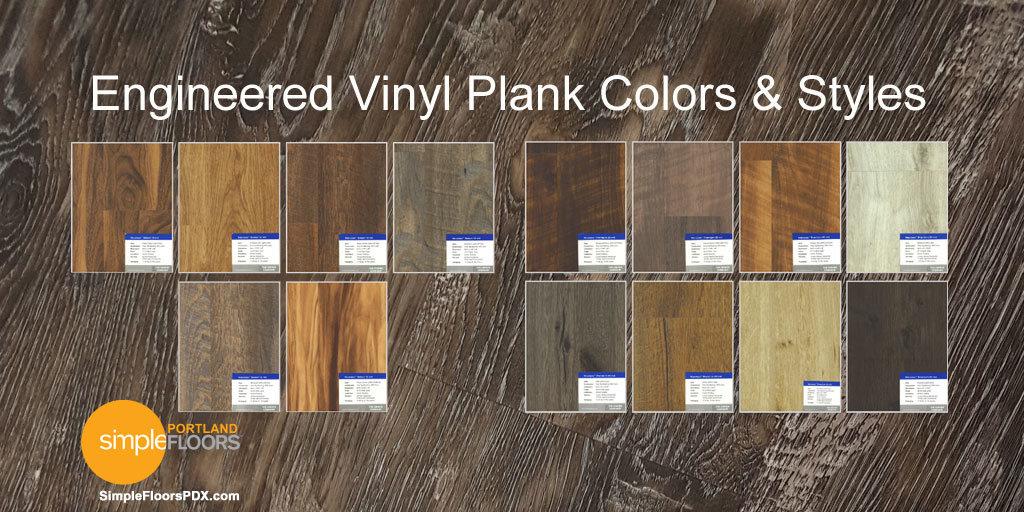 EVP vinyl flooring wood colors and styles