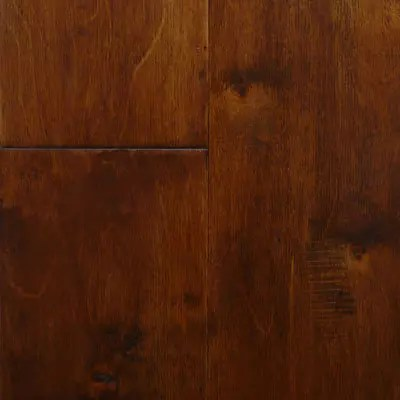 auburn handscraped birch engineered wood flooring