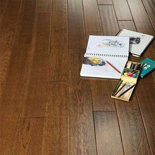 medium sculpted buckskin hickory engineered wood floor