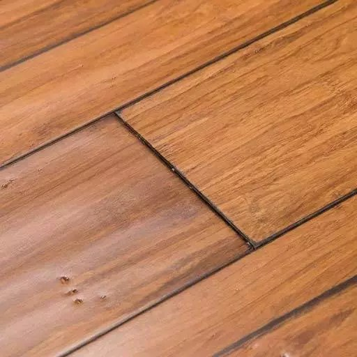 Distressed Mocha Fossilized® Handscraped Bamboo Wood Floors – Wide Click