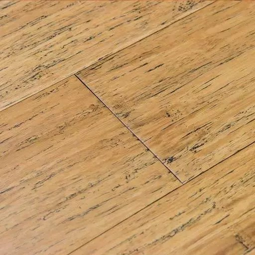 Distressed Natural Fossilized® Bamboo Wood Flooring – Wide Click