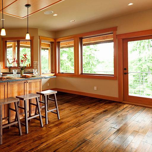 Johnson Hardwood Toscana Handscraped Hickory Engineered Wood Floor