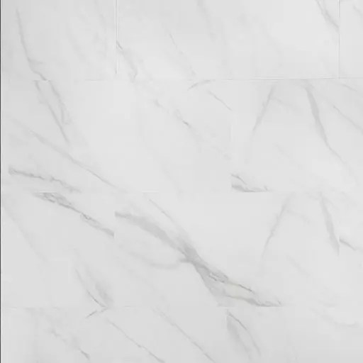 Adura Max Legacy White with Gray Marble LVT Rectangle Flooring