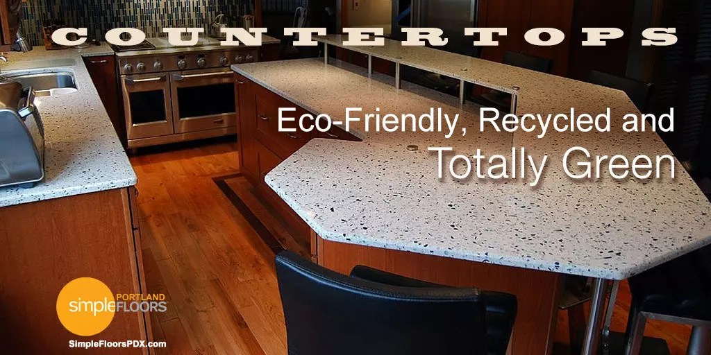 Themosteco friendly, durable recycled glass countertops in Portland