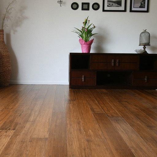 family room bamboo flooring