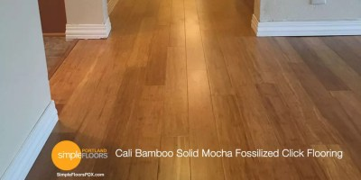"Cali Bamboo Solid Mocha Fossilized Click Floors 7/16"" x 3 - 3/4"""