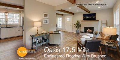 Engineered Wood Flooring - Oasis Wire Brushed