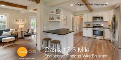 Wire Brushed Engineered Wood Flooring - Oasis