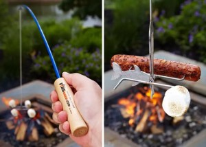 Marshmallow and Hot Dog Roasting Fishing Rod - Cool Camping Gear