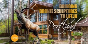 Bronze sculpture art in Portland
