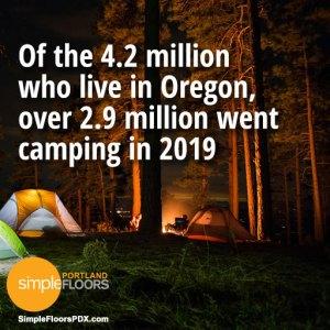 A lot of Oregonians go camping