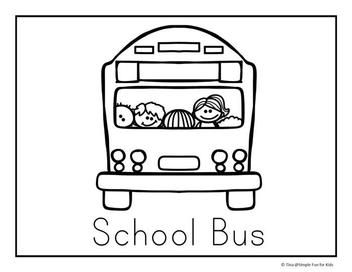 Back To School Preschool Worksheets Buses And