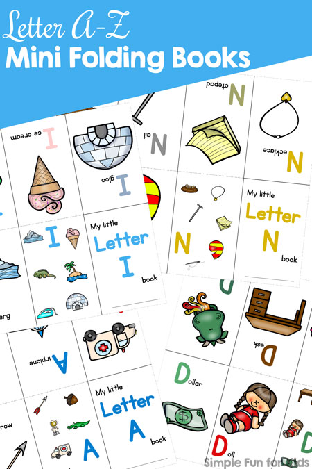 Printable Mini Folding Books For Kids