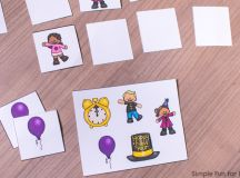 Try a new twist on the classic memory game with this cute printable New Year's Where's My Match Memory Game! Great for advanced memory players in kindergarten and elementary school.