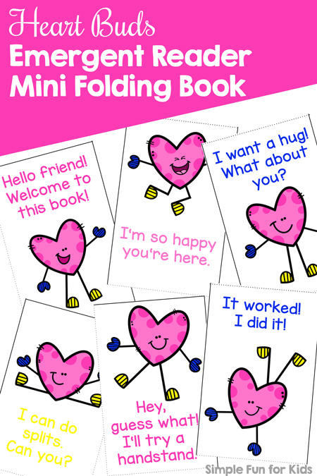 Fantastic! Heart Buds Emergent Reader Mini Folding Book Printable