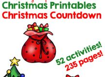 Follow this fun, simple, and frugal 24 Days of Christmas Printables Christmas Countdown with your older toddler, preschooler or kindergartener! Something no-prep or low-prep to spend quality time every day of December all the way up until Christmas, easy peasy!