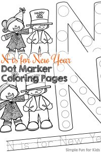 Dot Marker Coloring Pages for Learning the Alphabet