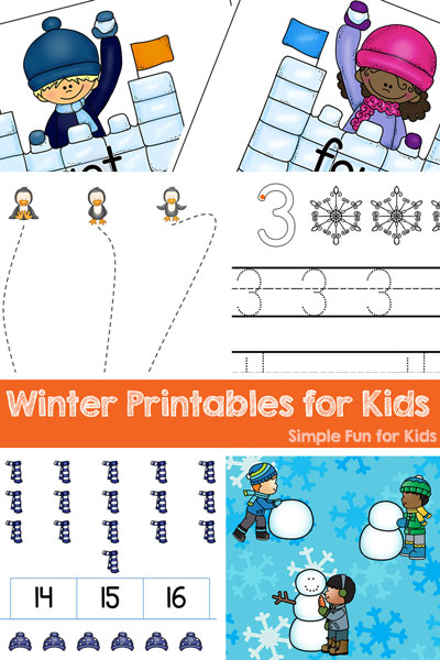 Awesome! Winter Printables For Kids