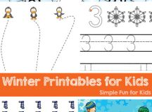 Are you looking for Winter Printables for Kids? You'll find all kinds here - literacy, sight words, math, counting clip cards, fine motor, and more! Perfect for toddlers, preschoolers, and kindergarteners.