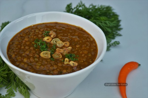 white bowl with lentils