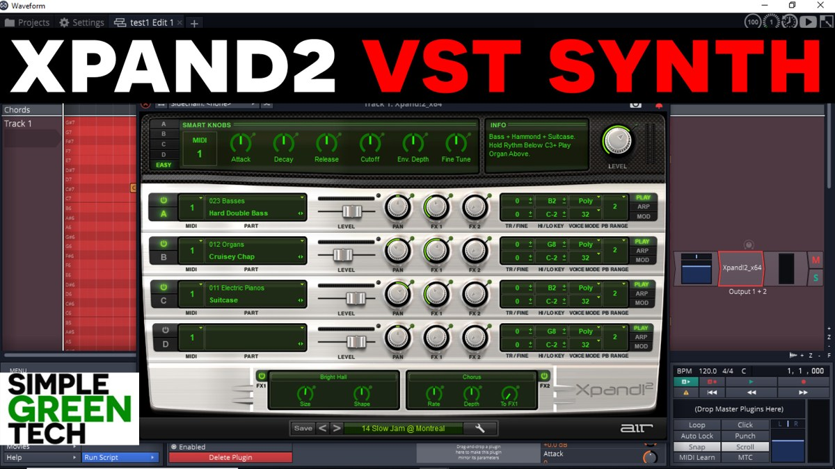 XPand2! VST Plugin Synth Review – Simple Green Tech – Audio