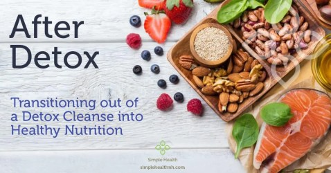 Transitioning out of Detox Cleanse into Healthy Nutrition