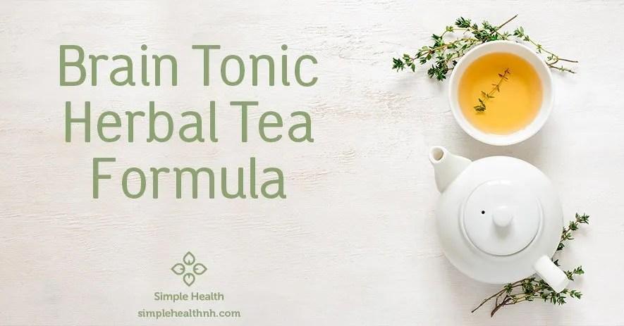 Brain Tonic Herbal Tea Formula