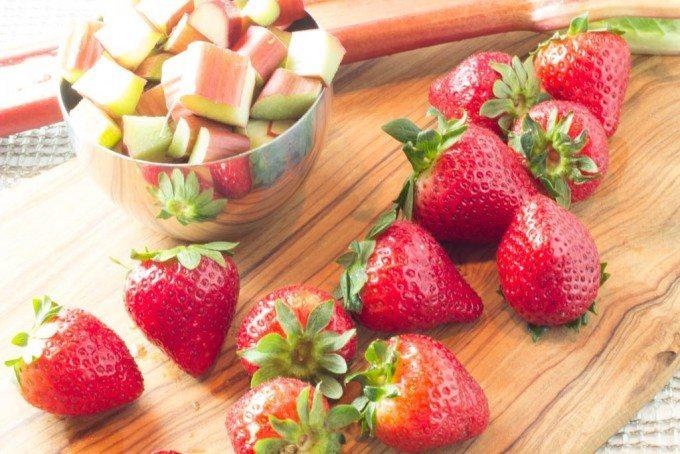 rhubard and strawberries