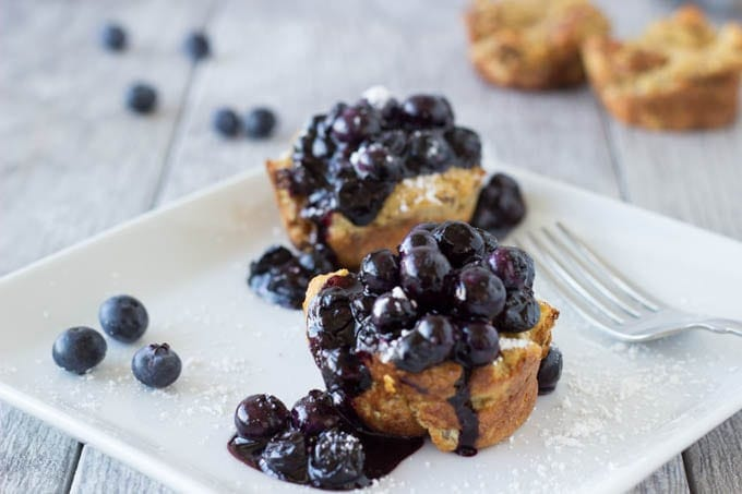 french toast muffins with blueberries