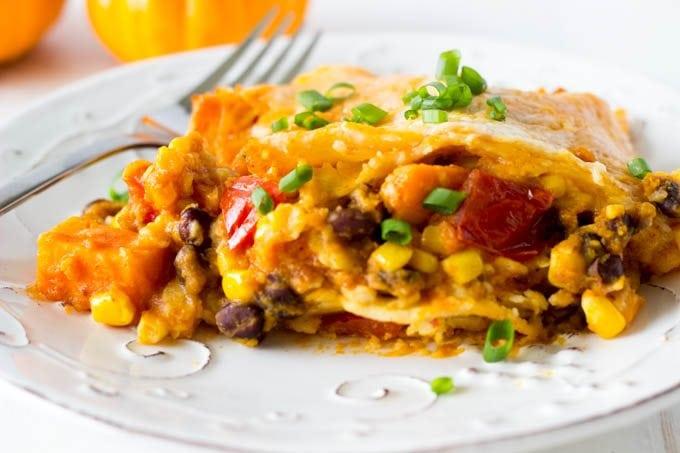 crock pot black bean and sweet potato enchiladas