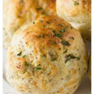 Stuffing Biscuits- Cheddar Bay Biscuits with a twist