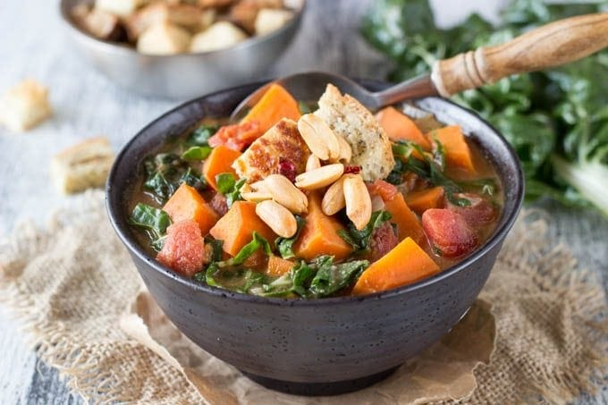 african peanut and sweet potato soup # healthy- simplehealthykitchen.com