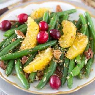 Green Beans with Citrus, Pecans and Maple Vinaigrette