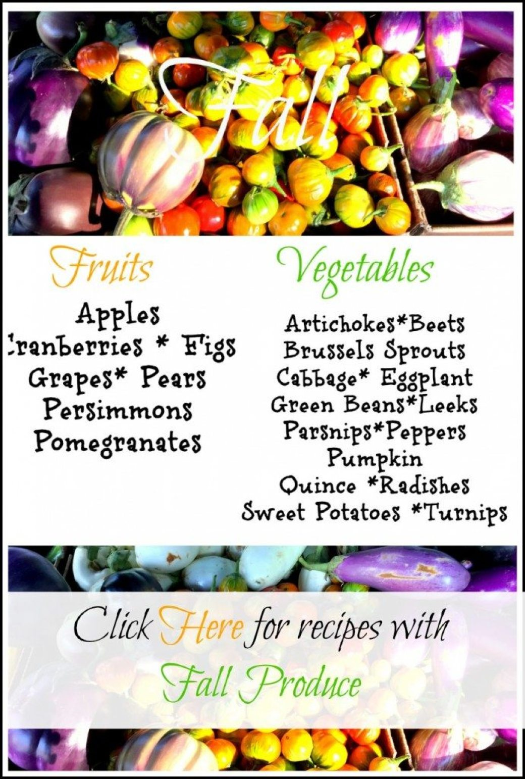 What's in Season Fall Produce