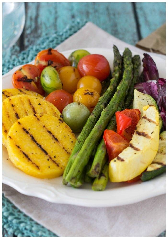 grilled Polenta and veggies