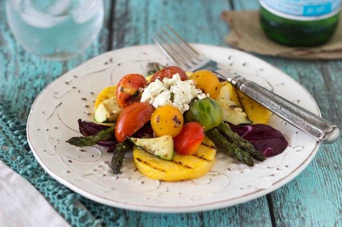 grilled polenta + veggies and feta - simplehealthykitchen.com_