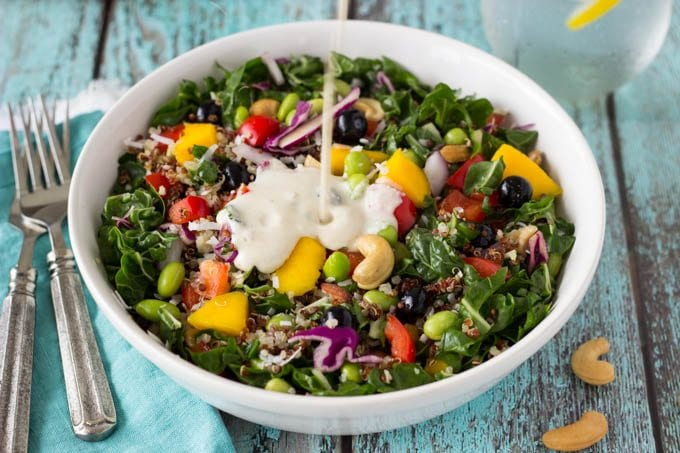 superfood salad with creamy cashew dressing (1 of 1)