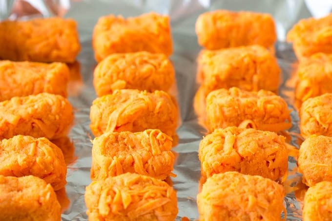 Baked Sweet Potato Tater Tots- simplehealthykitchen.com