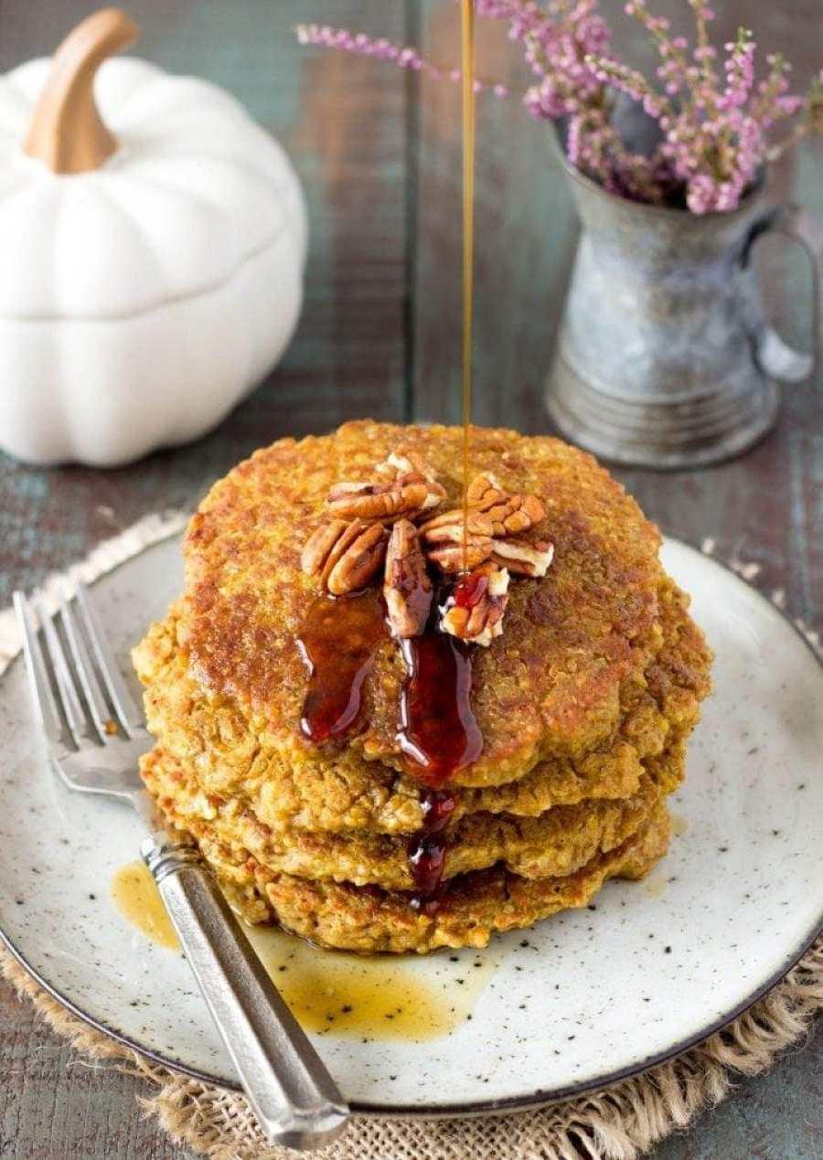 pumpkin-spice-quinoa pancakes pinterest