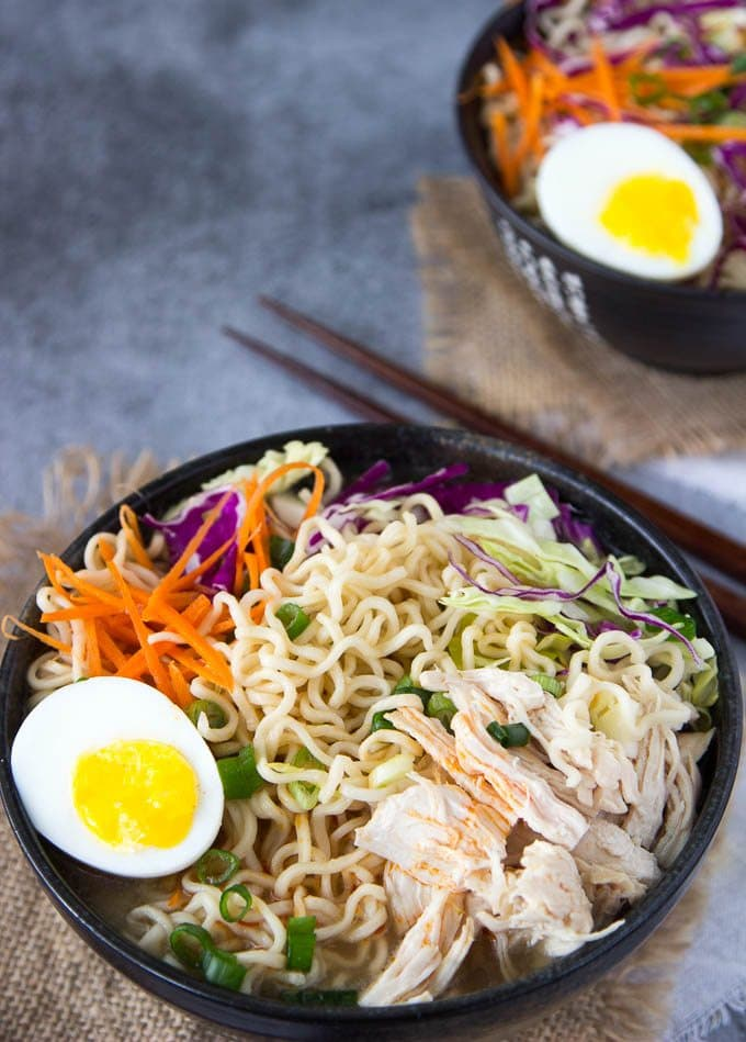 Healthy chicken ramen bowl clean eating simple healthy kitchen healthy chicken ramen bowl 5 forumfinder Image collections