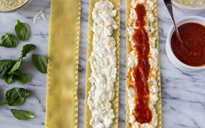 spinach-artichoke-lasagna-roll-ups steps 1-3